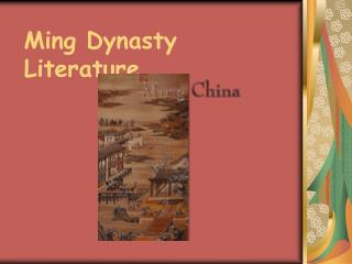 Ming Dynasty Literature
