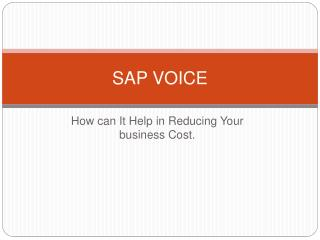SAP Voice - Basic Concepts & Features