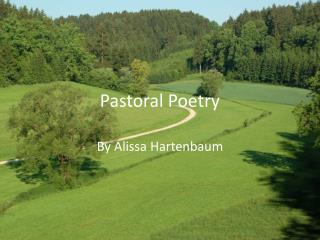 Pastoral Poetry