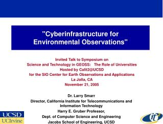 """Cyberinfrastructure for Environmental Observations"""