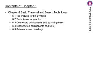 Contents of Chapter 6