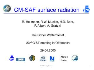CM-SAF surface radiation