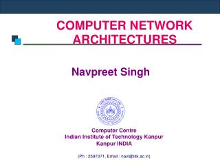 COMPUTER NETWORK ARCHITECTURES