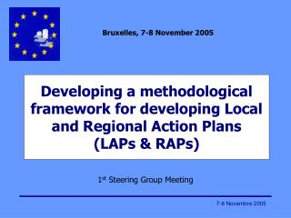 Developing a methodological framework for developing Local and Regional Action Plans (LAPs & RAPs)