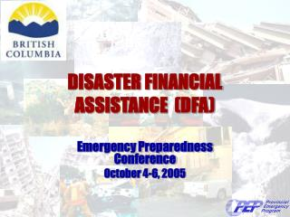 DISASTER FINANCIAL ASSISTANCE  (DFA)