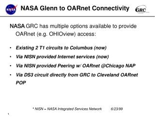 NASA Glenn to OARnet Connectivity