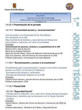 1. as JORNADaS TéCNIcaS