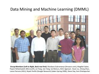 Data Mining and Machine Learning (DMML)