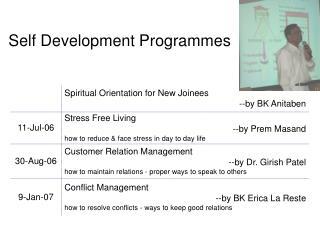 Self Development Programmes