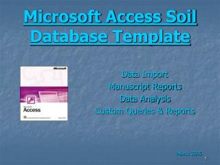 Microsoft Access Soil Database Template