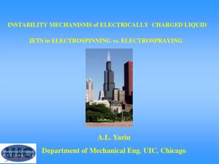 INSTABILITY MECHANISMS of ELECTRICALLY  CHARGED LIQUID JETS in ELECTROSPINNING vs. ELECTROSPRAYING