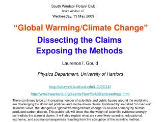 """Global Warming/Climate Change"""