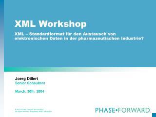 XML Workshop