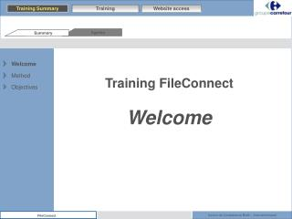 Training FileConnect Welcome