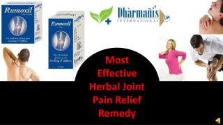 Most Effective Herbal Joint Pain Relief Remedy