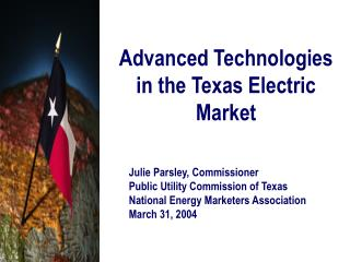 Advanced Technologies in the Texas Electric Market