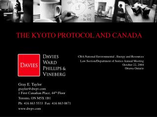 THE KYOTO PROTOCOL AND CANADA