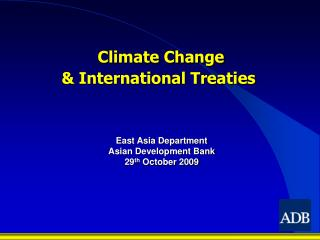 Climate Change & International Treaties