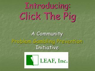 Introducing: Click The Pig