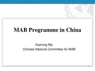 MAB Programme in China
