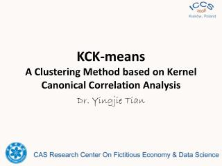KCK-means A Clustering Method based on Kernel Canonical Correlation Analysis