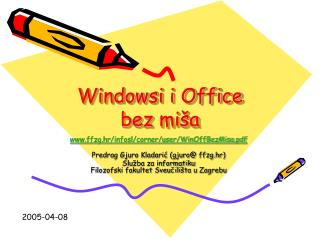 Windowsi i Office bez miša