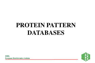 PROTEIN PATTERN DATABASES