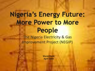 Nigeria's Energy Future: More Power to More People