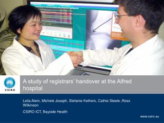 A study of registrars' handover at the Alfred hospital