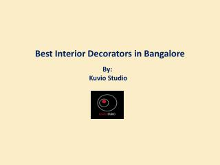 Best Interior Decorators in Bangalore