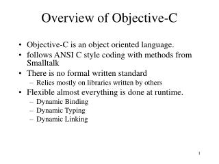Overview of Objective-C