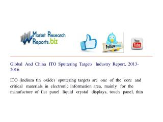 Global And China ITO Sputtering Targets Industry Report, 201