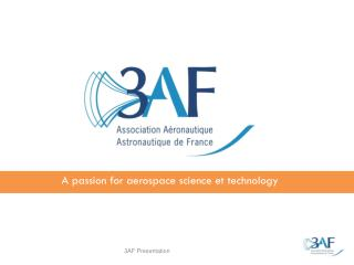 A passion for aerospace science et technology