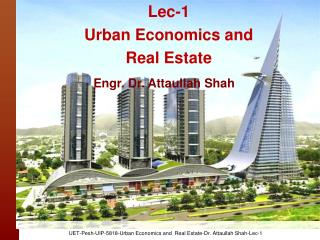 Lec-1  Urban Economics and Real Estate