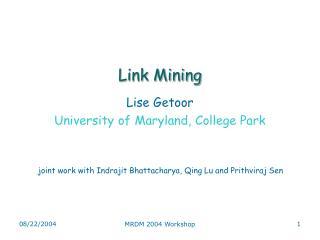 Link Mining