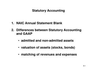 Statutory Accounting