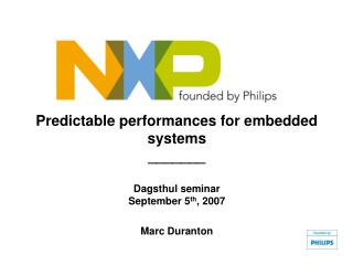 Introducing   NXP Semiconductors