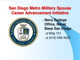San Diego Metro Military Spouse Career Advancement Initiative
