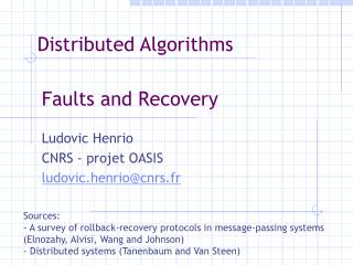 Faults and Recovery