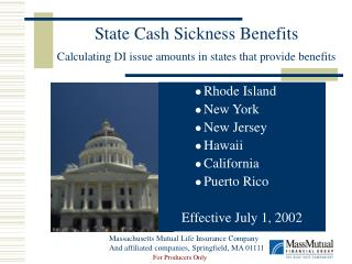 State Cash Sickness Benefits Calculating DI issue amounts in states that provide benefits