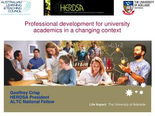 Professional development for university academics in a changing context
