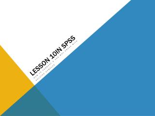 Lesson 10in SPSS