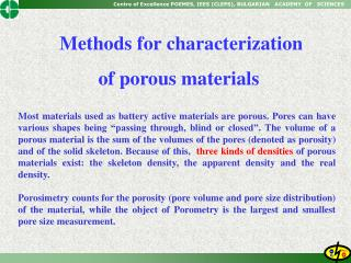 Methods for characterization of porous materials