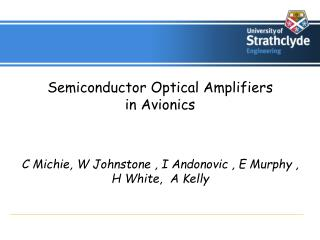 Semiconductor Optical Amplifiers  in Avionics