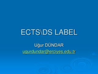 ECTS\DS LABEL