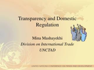 Transparency and Domestic Regulation