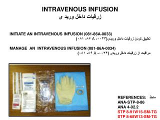 INTRAVENOUS INFUSION زرقیات داخل ورید ی
