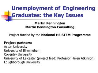 Unemployment of Engineering Graduates: the Key Issues