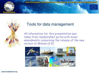 Tools for data management
