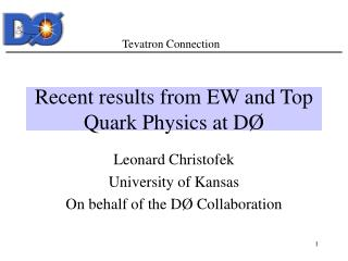 Recent results from EW and Top Quark Physics at D Ø